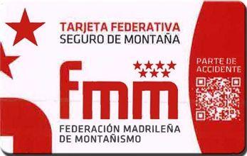 Tarjeta licencia federativa fmm 2018 - seguro montaña